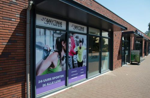 Anytime Fitness raambestickering